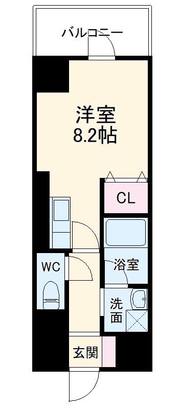 ベレーサ築地口ステーションタワー・1001号室の間取り
