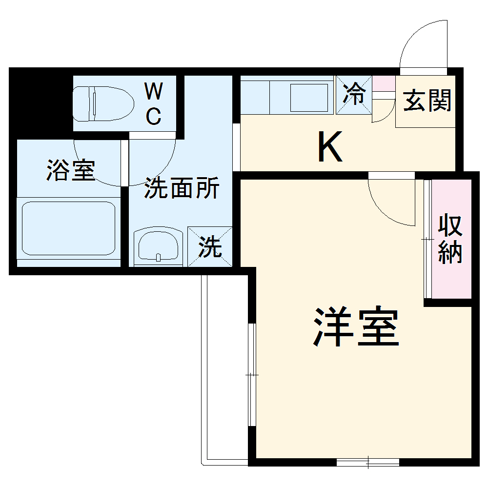 Flat平塚・904号室の間取り