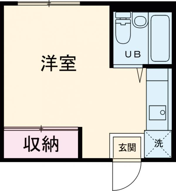 メゾンヒラヤマ・202号室の間取り