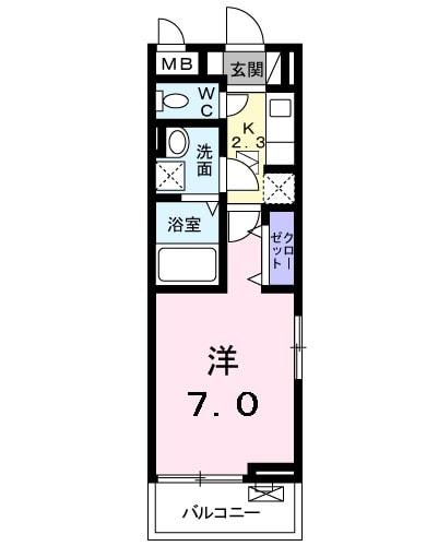 キングキャッスル 壱番館 01010号室の間取り