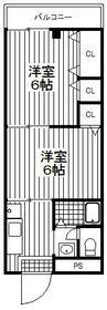 Y-HOME2・202号室の間取り