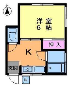大山タウン・103号室の間取り
