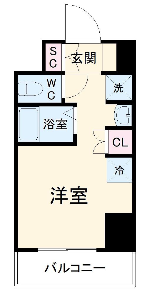 (仮称)西船橋・新築学生レジデンス 709号室の間取り