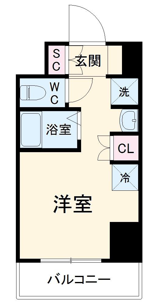 (仮称)西船橋・新築学生レジデンス・1005号室の間取り
