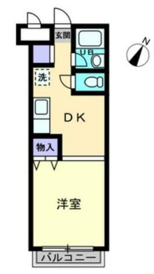 レクシオシティ王子神谷・701号室の間取り