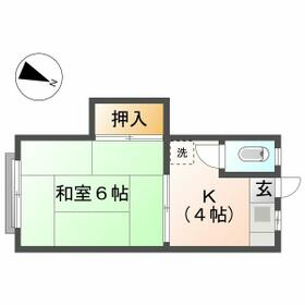 石井荘・7号室の間取り
