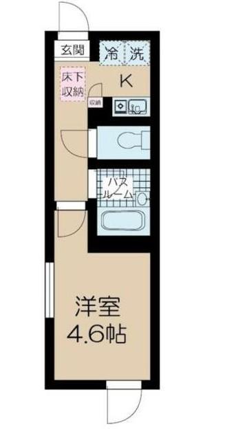 フェリーチェ中野新橋E・102号室の間取り