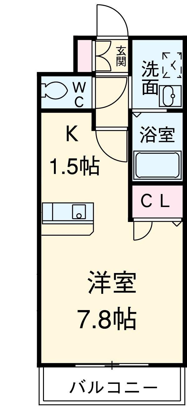 ライジングコート名古屋駅南・902号室の間取り