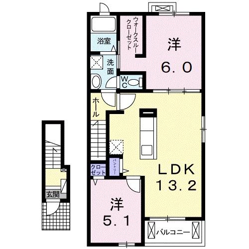モーリス・KⅡ・02010号室の間取り