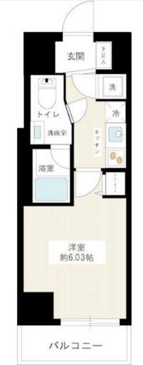 RISE NAKANO-MATSUGAO・209号室の間取り