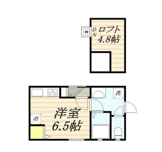 西蒲田5丁目LFH・101号室の間取り