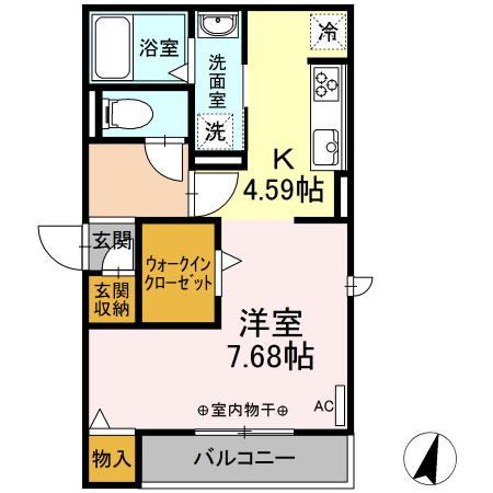 仮)?-room松鴻町C棟・305号室の間取り