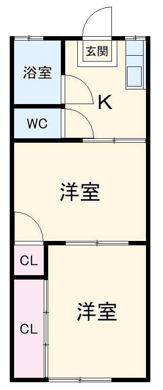 第1丸福荘・203号室の間取り