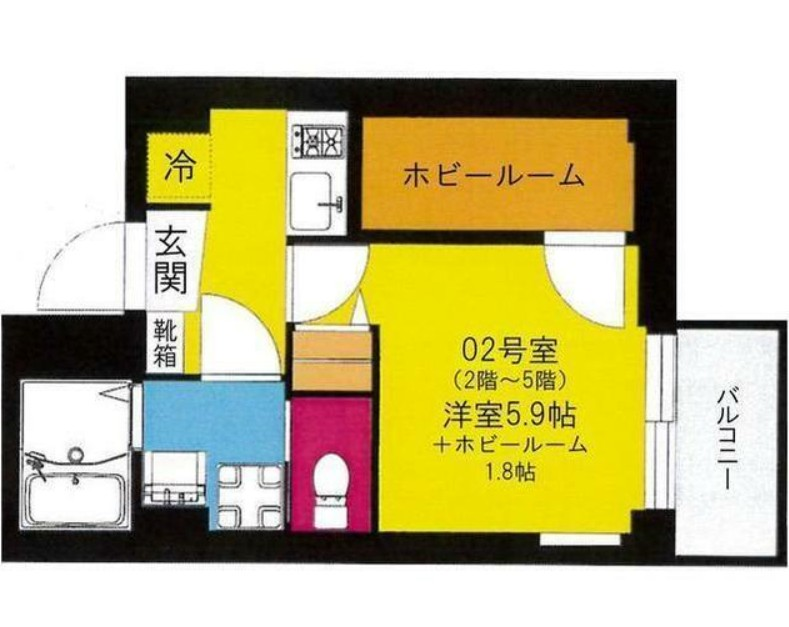 b'CASA YokohamaHigashi・302号室の間取り