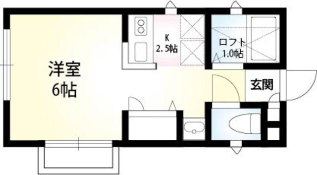 MIHARU・201号室の間取り