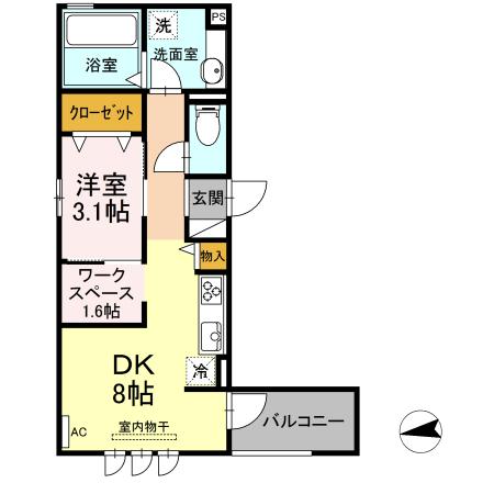 仮)D-room東田町・302号室の間取り