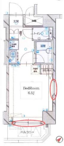 グラントゥルース東中野・902号室の間取り