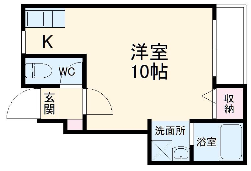 ランフォート天神川テラス・102号室の間取り