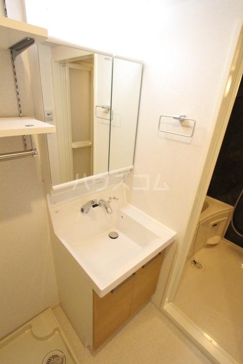 アプリコットA 02020号室の洗面所