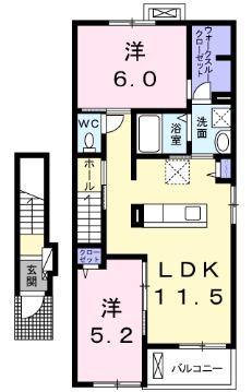 ベレッツァⅠ・02030号室の間取り