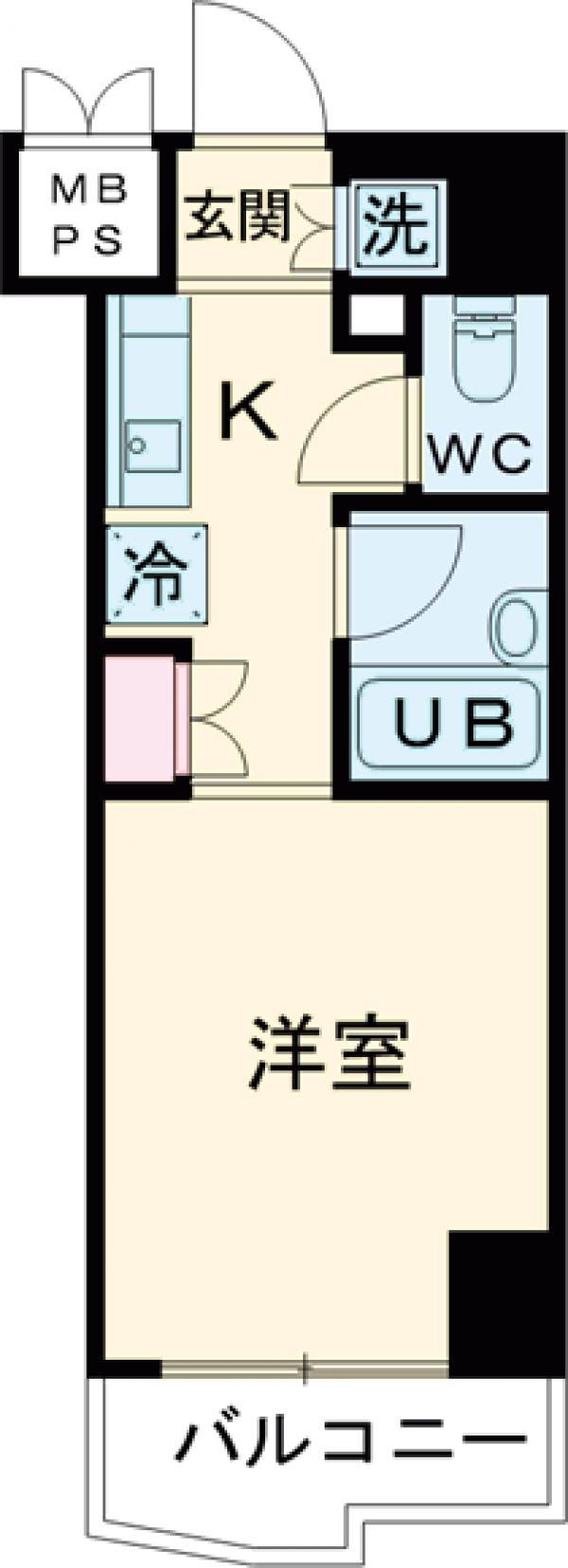 ルーブル大井町弐番館・802号室の間取り