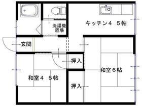 第2石川コーポ・202号室の間取り