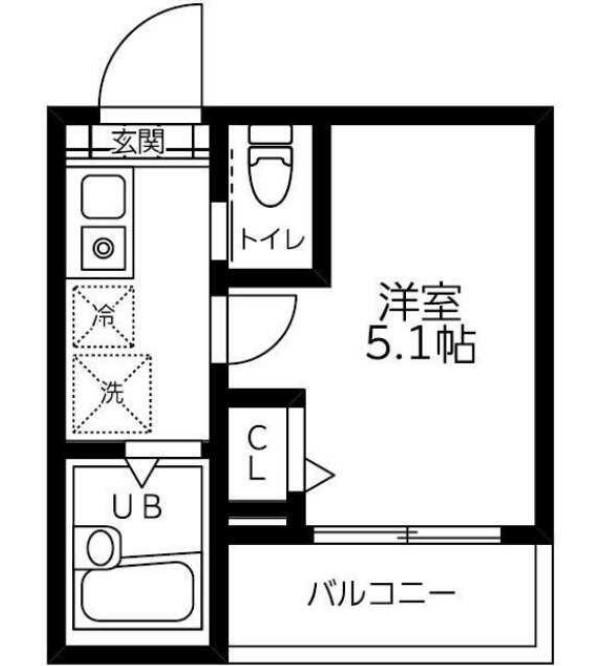 フェリシテ大崎・304号室の間取り