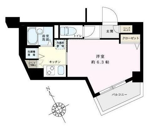 ロアール江古田・601号室の間取り