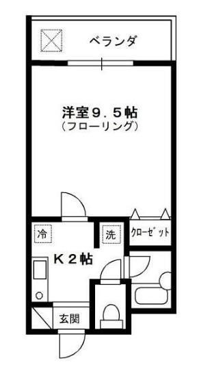 コンフォルト新江古田・207号室の間取り
