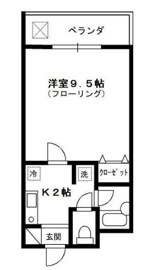 コンフォルト新江古田・206号室の間取り