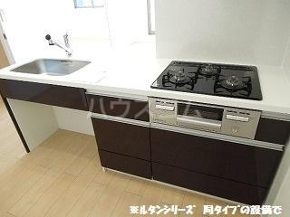 カーサ アルソーレ 01010号室のキッチン