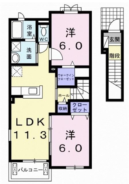 サンライズUSAMIⅡ・02040号室の間取り