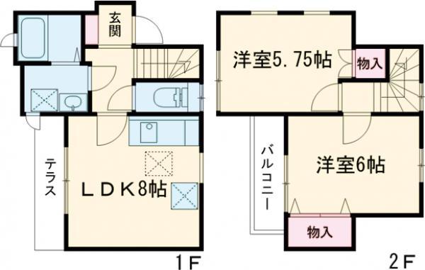 鈴江テラスハウス・101号室の間取り