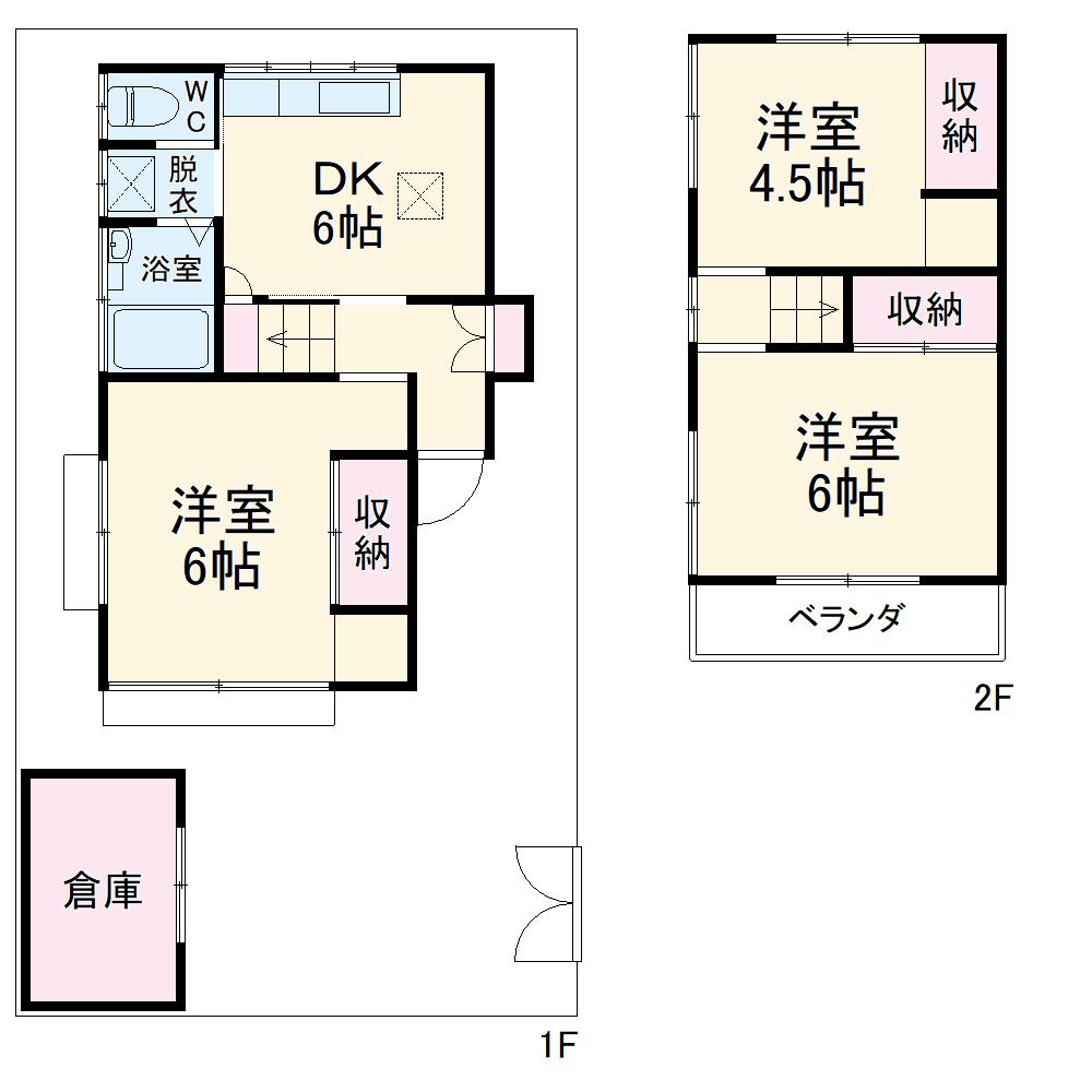 八千代台東6貸家・1号室の間取り