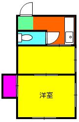 細倉荘・102号室の間取り