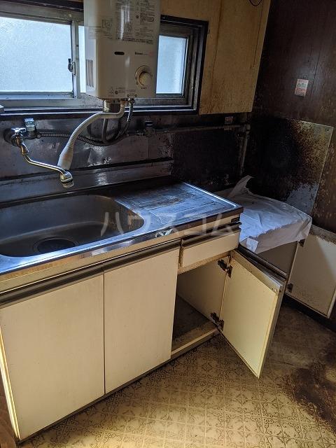 細倉荘 102号室のキッチン