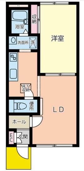 中村ハウス・102号室の間取り