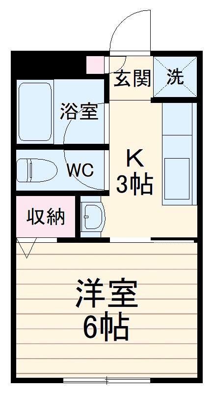 アビタシオンM堀ノ内B棟・102号室の間取り