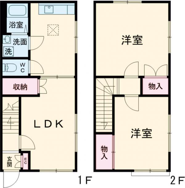 中村ハウス・103号室の間取り
