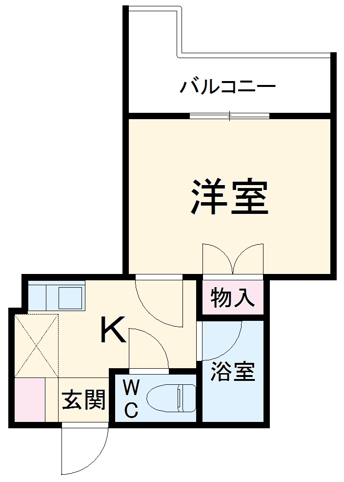 LC Residence川崎多摩・407号室の間取り