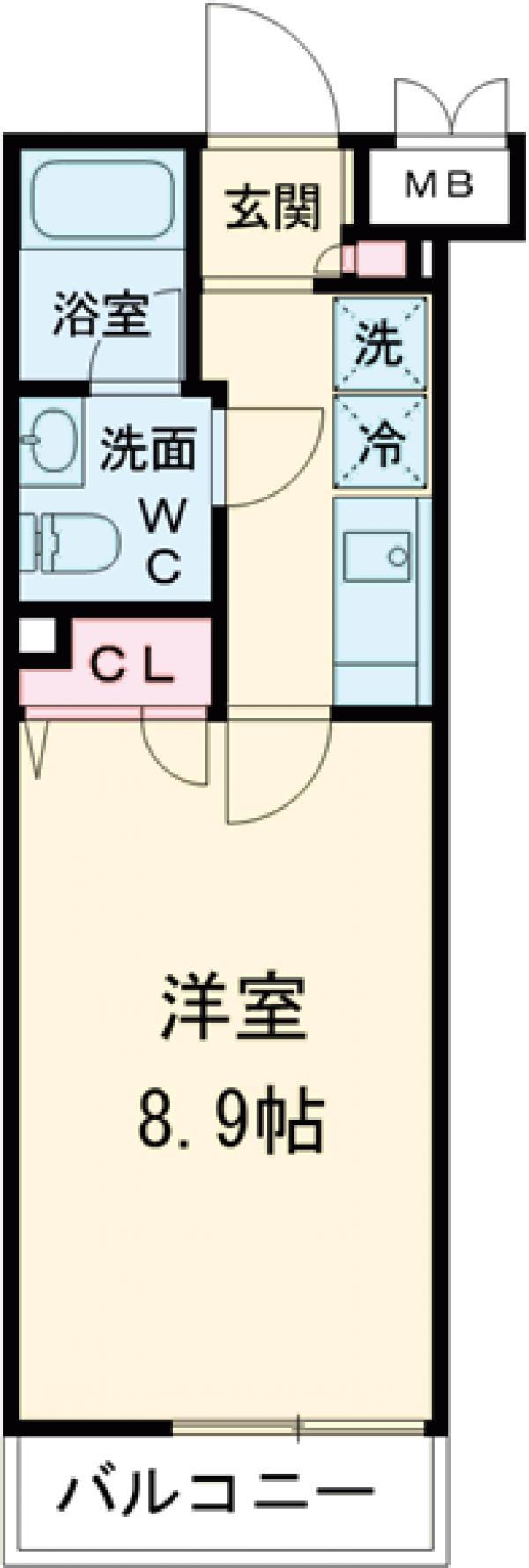 RELUXIA世田谷用賀・108号室の間取り