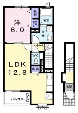 チヨ タウンC 02020号室の間取り