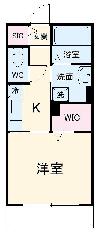 仮)フィカーサ黒野 A棟・206号室の間取り