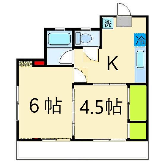 ユニバーサルマンションⅠ・301号室の間取り