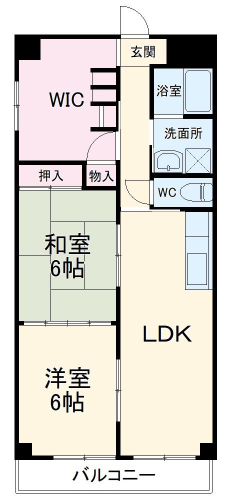 アパートメントハウス朴の樹 601号室の間取り