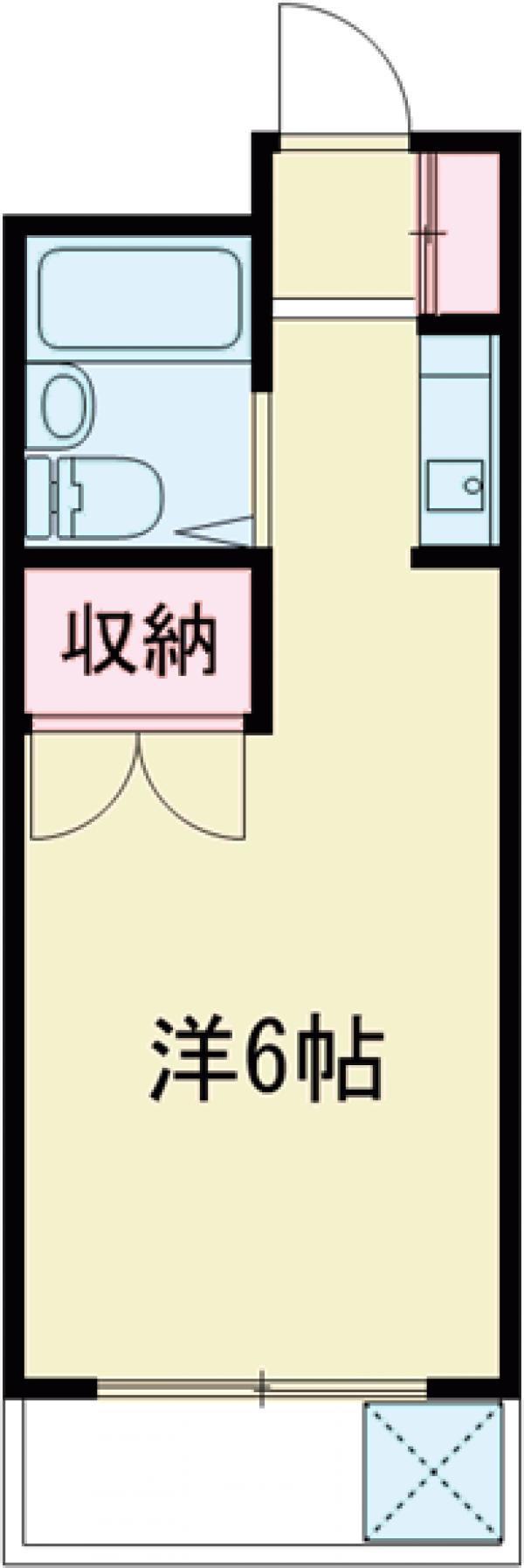 シャレー都立大カワベ第5・302号室の間取り
