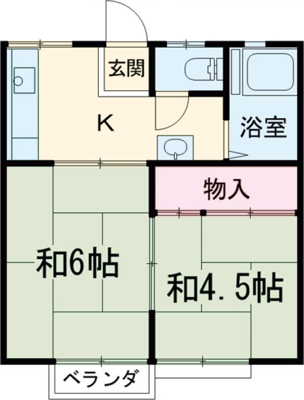 飯村ハイツ・205号室の間取り