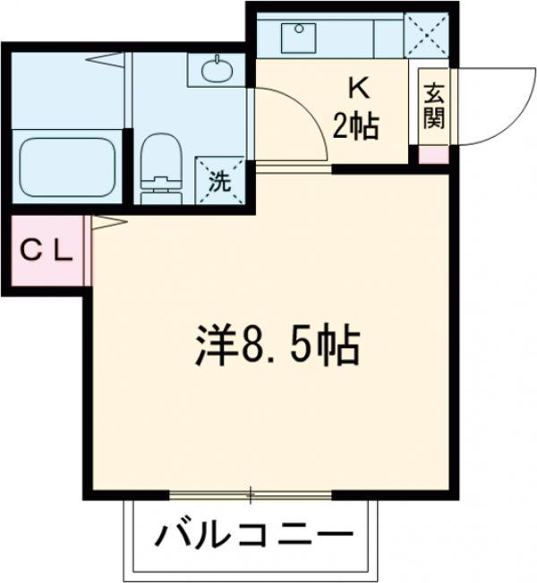シエナ町田 101号室の間取り