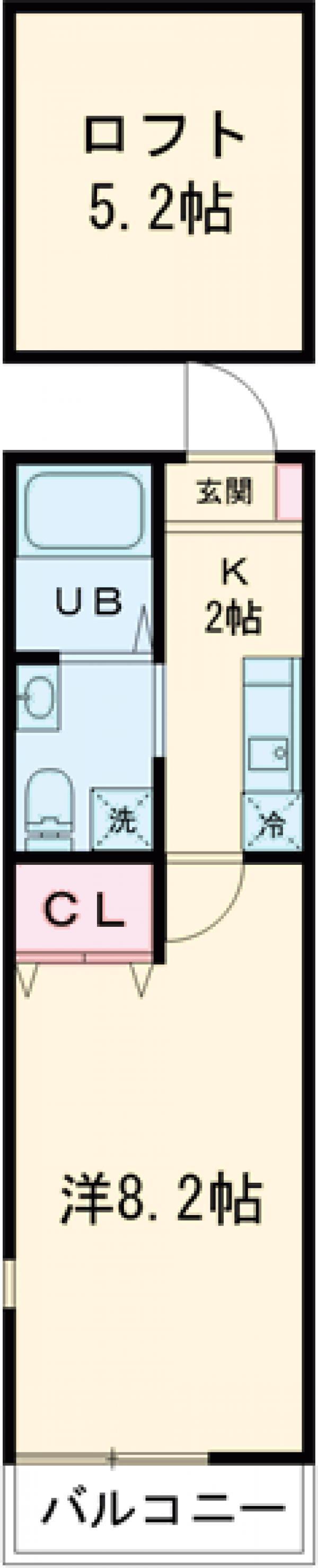 シエナ町田 304号室の間取り