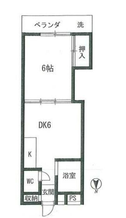コーポ北新宿 206号室の間取り